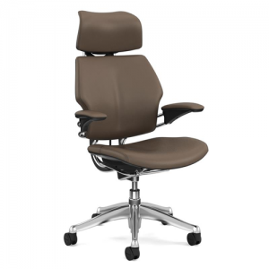 HUMANSCALE FREEDOM HEADREST BROWN LEATHER