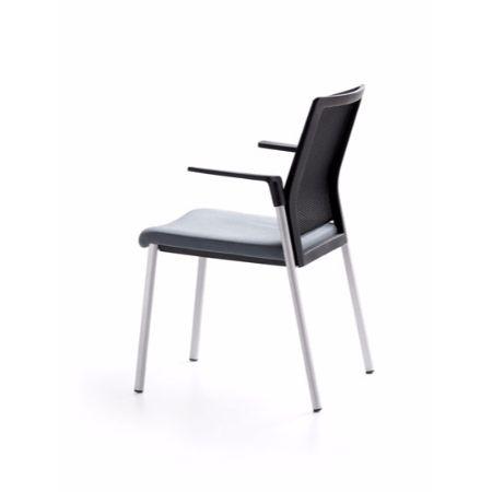 Silla fija forma 5 plural muebles de oficina mart nez for Silla sentis forma 5