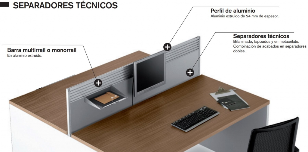 separadores faldones - separateur voiles de fond - screens and modesty panels (Tecnicos Caracteristicas)