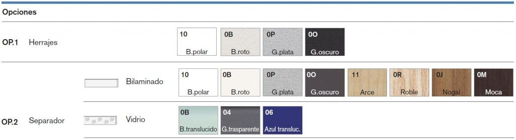 separadores faldones - separateur voiles de fond - screens and modesty panels (acabados)